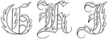 calligraphy alphabet fancy calligraphy alphabet
