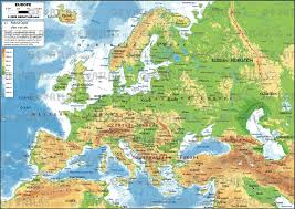 map of europe picture physical map of europe political geology throughout