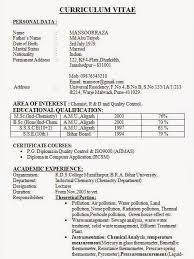 Pg Resume Format Best Resume Formats For India U2013 Download