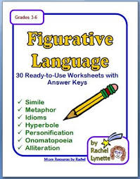 figurative language 30 printable pages plus answer keys
