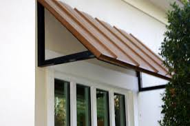 Copper Awnings For Homes Standing Seam Metal Awning Copper Penny Barfield Fence And