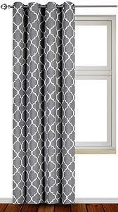 Decorative Curtains Amazon Com Printed Blackout Room Darkening Color Block Grommet