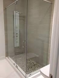 Frameless Shower Doors Miami Frameless Shower Door With Custom Sandblasted Design By Glass