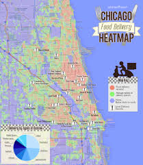 Bucktown Chicago Map by Chicago Food Delivery Heatmap Where To Live If You Love To Order
