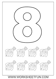 animal number counting color pages coloring pages for kids 15872