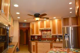 electric fan ceiling installation kitchen recessed lighting design
