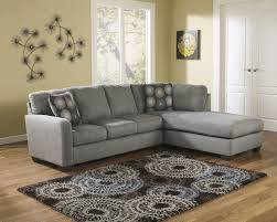 Cushy Sleeper Sofa Charcoal Gray Sectional Sofa With Chaise Lounge 80 In