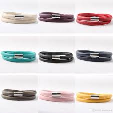 leather bracelet magnetic images Top quality fashion double wrap leather bracelet with magnetic jpg