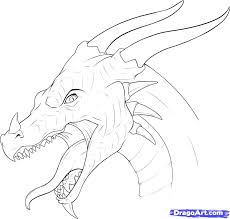 coloring alluring draw adragon coloring
