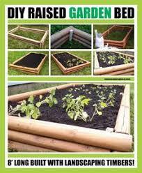 raised garden bed plans using landscape timbers garden planning
