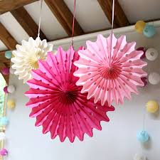 paper fans decorations pastel paper fan decoration set by lilly notonthehighstreet