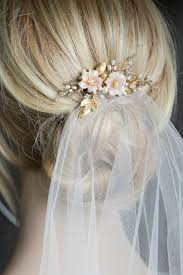 bridal hair comb blushing a pearl bridal hair comb with blush flowers for