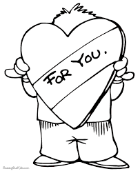 happy valentine coloring pages kid 011