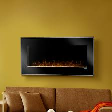 electric fireplace in wall mounted barbecue