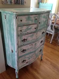 Bedroom Furniture Antique White Antique Chest Of Drawers Turquoise White Distressed And Aged