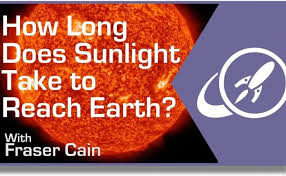 How long does it take sunlight to reach the earth universe today