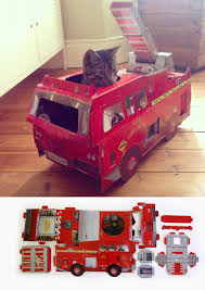 Cardboard Scratchers For Cats This Company Makes Cardboard Tanks Planes And Houses For Cats