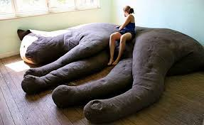 giant sleeping cat couch unique furniture and large pillow by unhold
