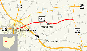 Map Of Southwest Ohio Ohio State Route 540 Wikipedia