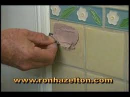 Bathroom Tile Glaze How To Fill And Repair Holes In Ceramic Tile Youtube