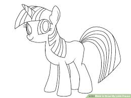 coloring amusing simple pony drawing pictures ideas