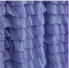 Blue Valance Curtains Periwinkle Curtain Valance Ruffle Valance Blue Valance