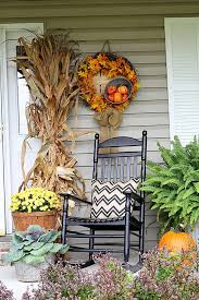 Pictures Of Front Porches Decorated For Fall - fall on the porch porch wreaths and pillows