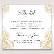 wedding registry on invitation wishing well cards for your stationery set
