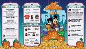 Walt Disney World Maps by Walt Disney World U0027s Mickey U0027s U201cnot So Scary U201d Halloween Guide Map