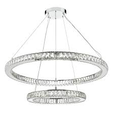 Chrome Ceiling Lights Uk Large Contemporary Led Ceiling Light 2 Hoops Lighting And Lights Uk
