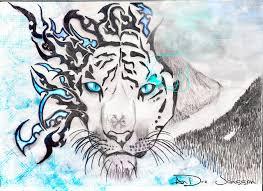 tribal tiger inferno by omenchildren on deviantart