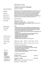 Chef Job Description Resume by Human Resources Manager Resume Job Description Template Sample