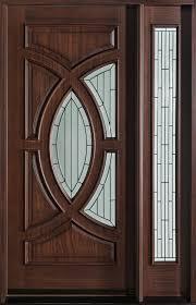 single door design modern front door custom single with 1 sidelite solid wood