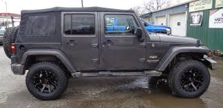 grey jeep rubicon midwest custom trucks cars customizing moberly mo