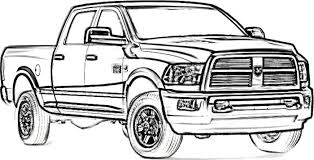 dodge truck coloring pages dodge ram 2500 drawing ride a cart dodge ram