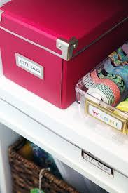 Organize Gift Wrap - iheart organizing diy gift wrap organization station