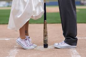 baseball themed wedding an adorable baseball themed wedding woman getting married
