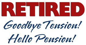 goodbye tension hello pension retired goodbye tension hello pension irony design shop