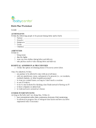 birth plan template 6 free templates in pdf word excel download