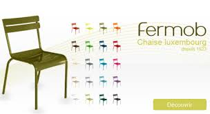 chaises fermob chaise luxembourg fermob déco uaredesign