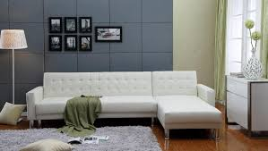 White Leather Sleeper Sofa Thy Hom Marsden Tufted Bi Cast Leather 2 Pieces Sectional Sofa Bed