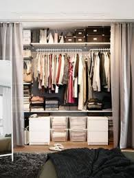 Curtains As Closet Doors 9 Clever Ways To Conquer Your Cred Closet Dresser Stylish