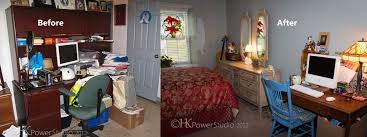Guest Bedroom And Office - heather powers professional organizers in charleston south carolina