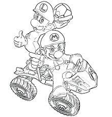 Coloriage Mario Et Luigi Kart S Pour With Super Smash Super Bros