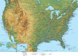 anerica map physical map of unted states