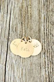 custom gold necklace sted three name necklace personalized gold jewelry