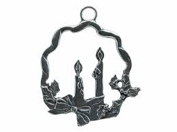 hanging ornament wreath with candle detinnen roos