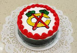 blackhawks cake u2014 north shore kosher bakery
