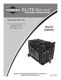 briggs u0026 stratton 30239 user manual 9 pages