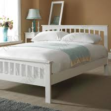 Solid Bed Frame King Heywood White Solid Wood Bed Frame 5ft King Size Solid Wood
